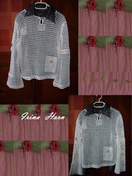 """Пуловер"""" Белый  ветер"""""""