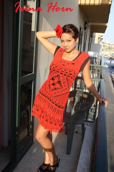 """Платье """" Ча-ча-ча"""" или в стиле Фламенко  для моей старшей племянице Анастасии"""
