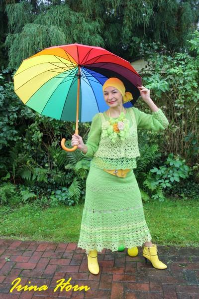 "костюм ""Весенняя палитра"" с новым розарием ))или весенняя Мери Поппинс!"