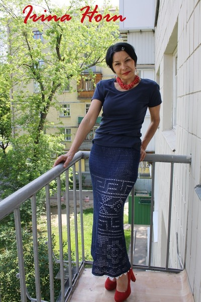 Юбка Полуночно-синяя мозаика
