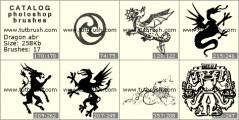 Download кисти фотошоп Мистический дракончик