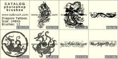 Download кисти фотошоп Татуировки драконов