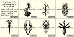 Download кисти фотошоп Татуировочни знаки