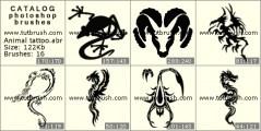 Скачать кисти для фотошоп Татуировки животных