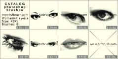 Скачать кисти для фотошоп Женские глаза