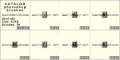 Скачать кисти для фотошоп Кнопки русского алфавита