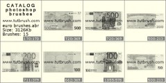 Скачать кисти для фотошоп Валюта евро