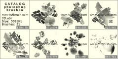 Download кисти фотошоп Формы 3D