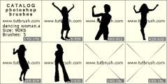 Скачать кисти фотошоп танцующая девушка