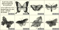 Кисть фотошоп Бабочки