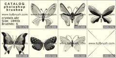 Download кисти фотошоп хрустальные бабочки
