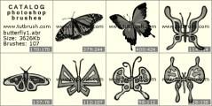Скачать кисть фотошоп коллекция бабочек