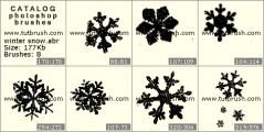 Download кисти фотошоп снежок