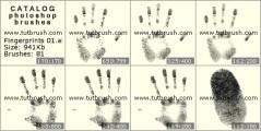 Кисть фотошоп Отпечатки пальцев