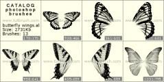 Download кисти фотошоп Крылышки бабочки