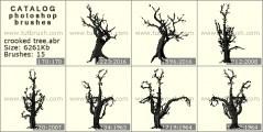 Download кисти фотошоп Кривое дерево