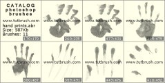 Кисть фотошоп Отпечатки руки