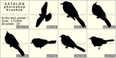 Скачать кисть фотошоп Электрические линии и птицы