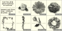 Скачать кисть фотошоп Веночки и цветочки