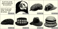 Скачать кисти фотошоп Стильные шляпки
