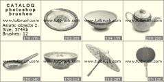 Кисть фотошоп Посуда из Азии