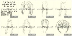 Кисть фотошоп Женские и мужские волосы