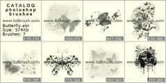 Кисть фотошоп Прикольные бабочки
