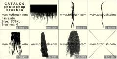 Скачать кисть фотошоп Женские волосы