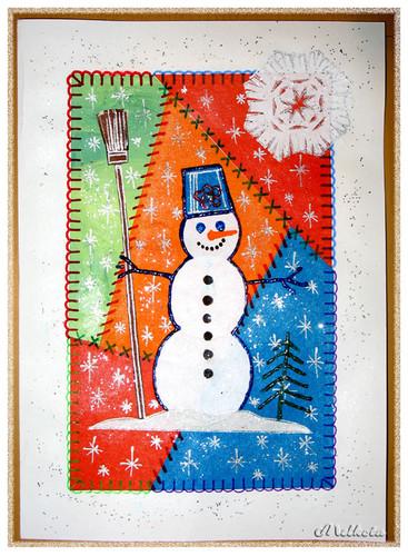 Нарисовать открытку с новым годом своими руками