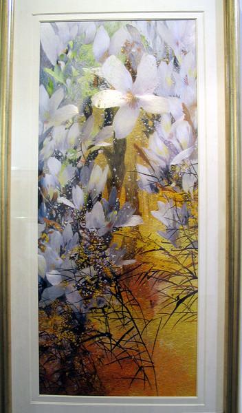На выставке демонстрируется всего 50 вышивок, которые были созданы мастером Жень Хойсянь за 70...