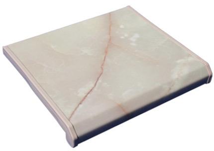 Подоконник пластиковый под мрамор для окон ПВХ, цвет Оникс