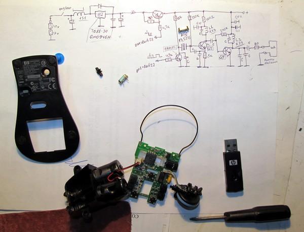 Проводная мышь из беспроводной своими руками 46