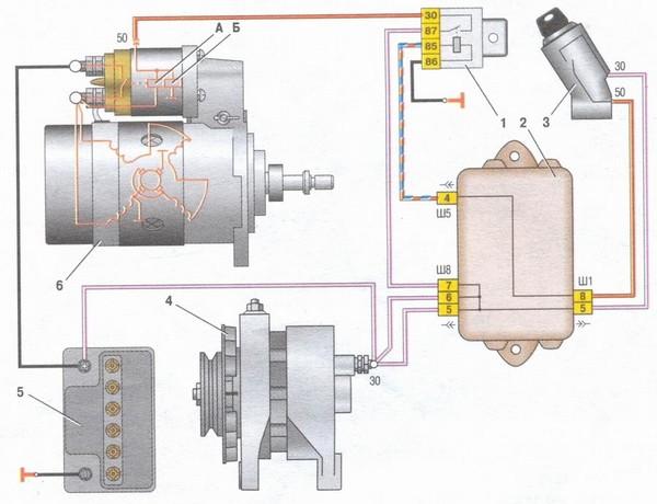 ВАЗ-21099 схема подключения