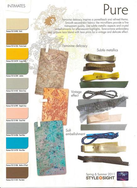 Тенденции моды в тканях,узорах, цветах( весна-лето2011),