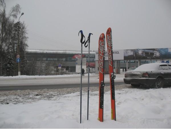 Покатушки на лыжах!