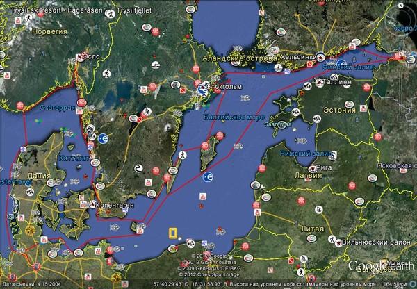 Маршрут по странам Скандинавии и Европы .  Балтика.  Старт из Тольятти 25 июня.  Из С- Петербурга 10 июля.