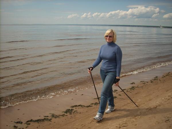скандинавская ходьба в рыбацком