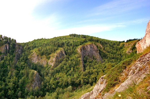 Скалы Мурадымовского ущелья