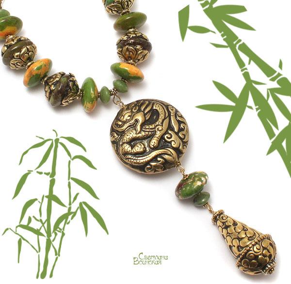 браслет серьги длинные бусы ожерелье натуральный агат медальон тибет камни авторские украшения