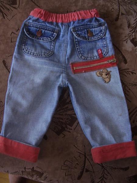 Сшить шорты ребенку из старых джинс 83