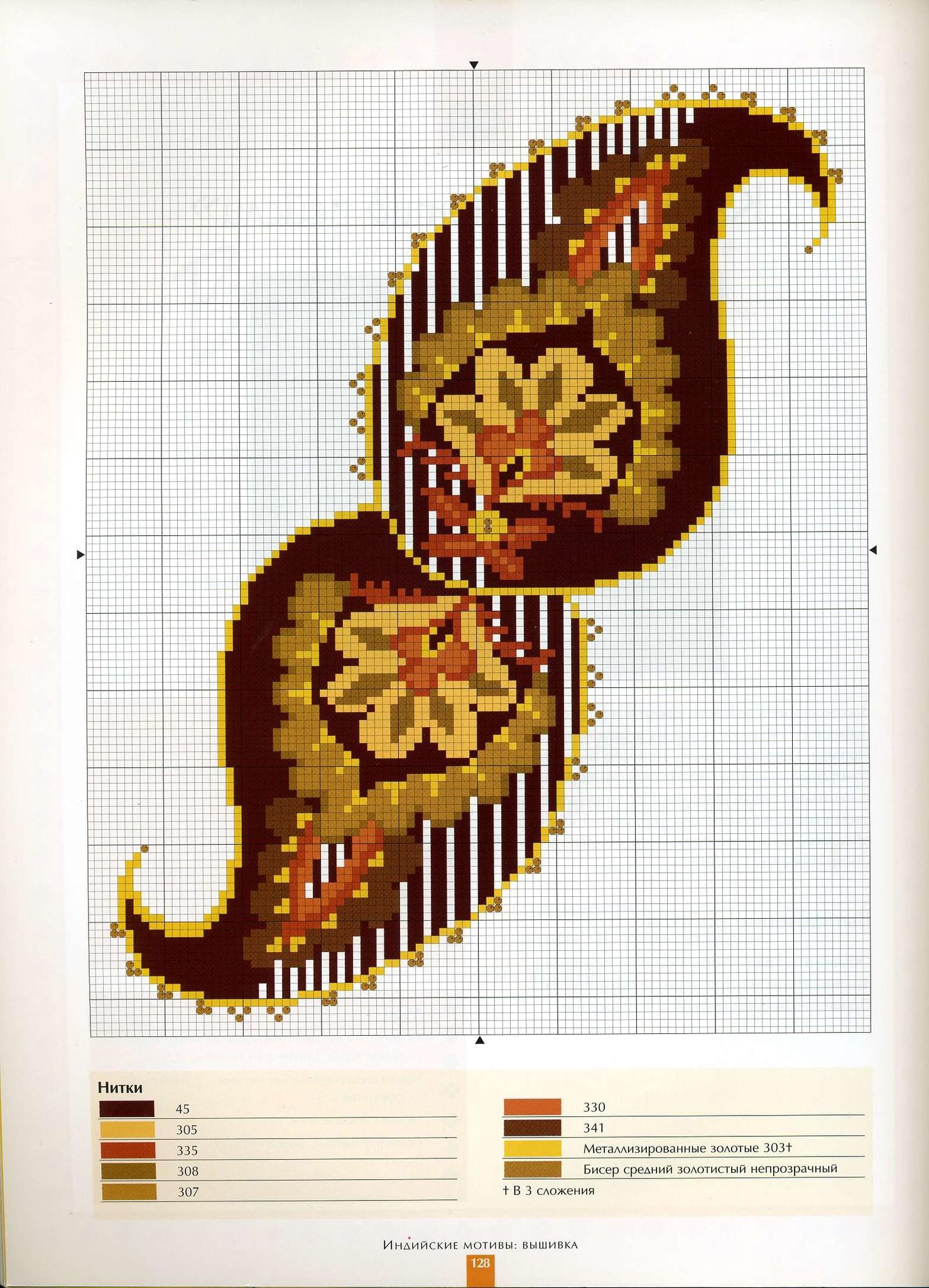 Вышивка индийские огурцы