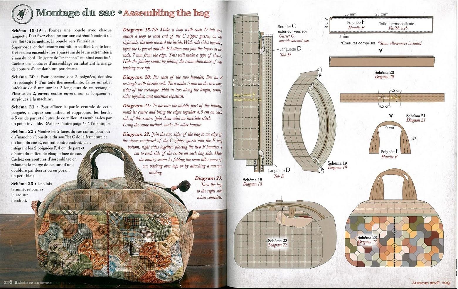 Схемы сумок из кожи с аппликацией