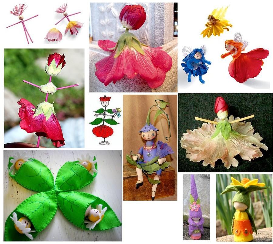Как сделать кукол из цветов 861