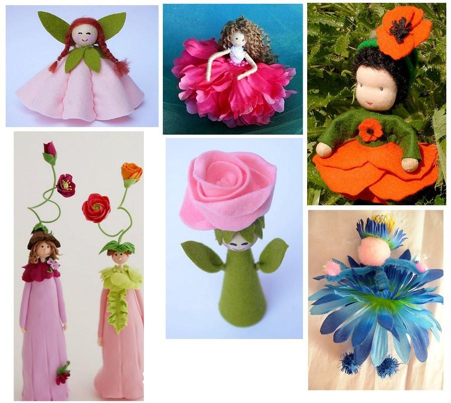 Как сделать кукол из цветов 230