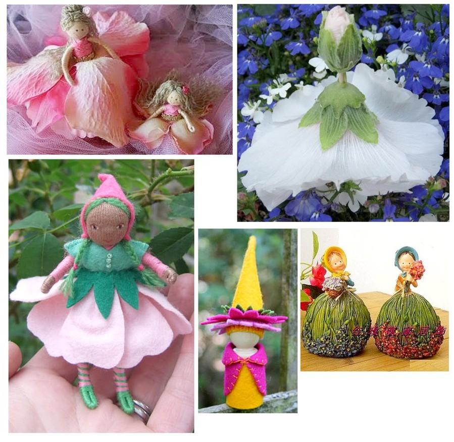 Как сделать кукол из цветов 498