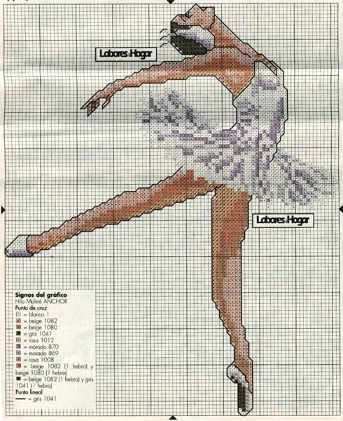Гимнастка схема вышивки