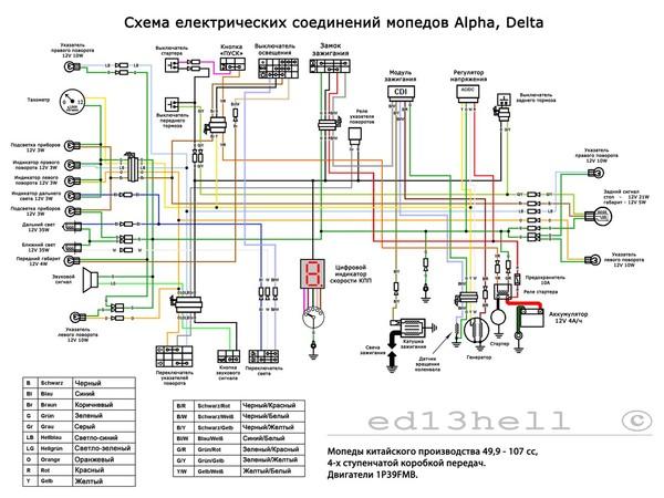 Схема электропроводки alpha delta.