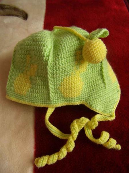 """""""Яблочная"""" шапочка для доченьки."""