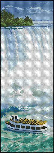 Ниагарский водопад.  Из коллекции Джона Клейтона.  Панно.