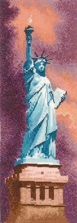 """Схема вышивки  """"Статуя Свободы """" ."""